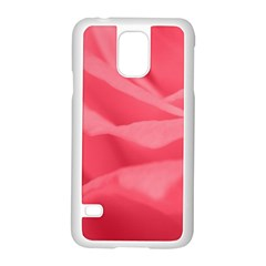 Pink Silk Effect  Samsung Galaxy S5 Case (White)