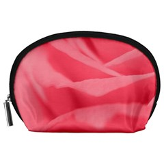Pink Silk Effect  Accessory Pouch (Large)