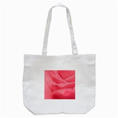Pink Silk Effect  Tote Bag (White)
