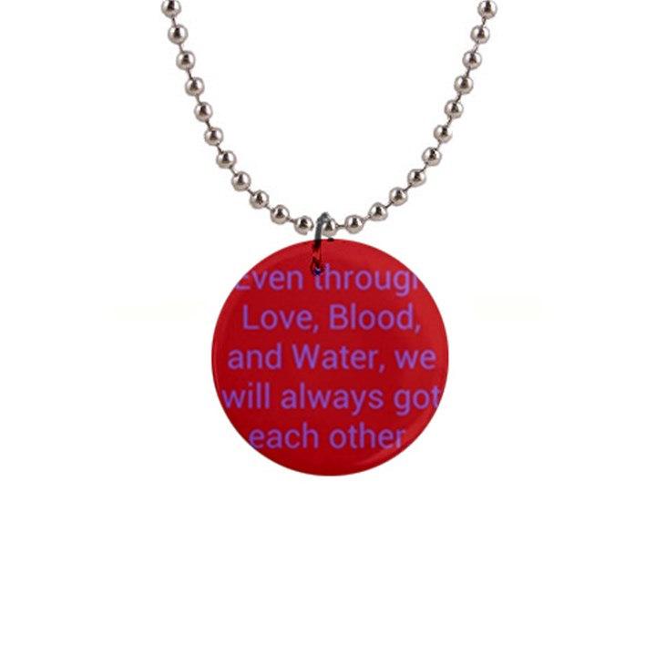 A Bff s promise Button Necklace