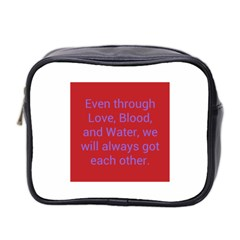 A Bff s Promise Mini Travel Toiletry Bag (two Sides)