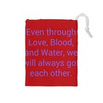A Bff s promise Drawstring Pouch (Medium) Front