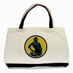 African American Woman Ironing Clothes Woodcut Classic Tote Bag