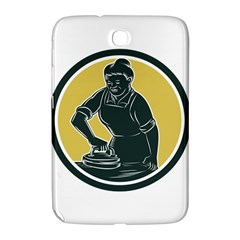 African American Woman Ironing Clothes Woodcut Samsung Galaxy Note 8 0 N5100 Hardshell Case