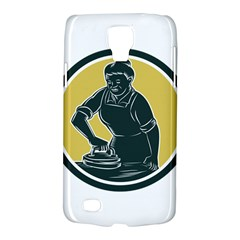 African American Woman Ironing Clothes Woodcut Samsung Galaxy S4 Active (i9295) Hardshell Case