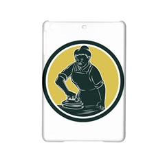 African American Woman Ironing Clothes Woodcut Apple iPad Mini 2 Hardshell Case