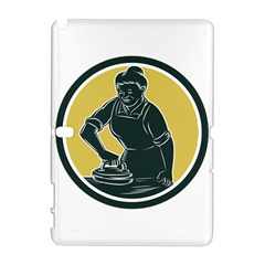 African American Woman Ironing Clothes Woodcut Samsung Galaxy Note 10 1 (p600) Hardshell Case
