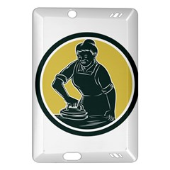 African American Woman Ironing Clothes Woodcut Kindle Fire HD 7  (2nd Gen) Hardshell Case