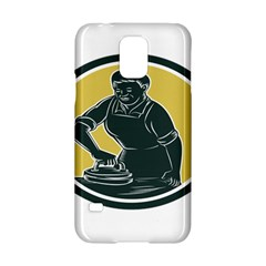 African American Woman Ironing Clothes Woodcut Samsung Galaxy S5 Hardshell Case