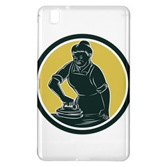 African American Woman Ironing Clothes Woodcut Samsung Galaxy Tab Pro 8 4 Hardshell Case