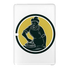 African American Woman Ironing Clothes Woodcut Samsung Galaxy Tab Pro 12.2 Hardshell Case