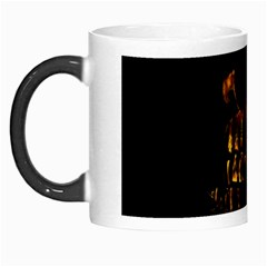 Skull Burning Digital Collage Illustration Morph Mug