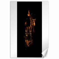Skull Burning Digital Collage Illustration Canvas 24  X 36  (unframed)