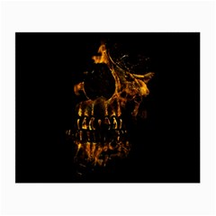 Skull Burning Digital Collage Illustration Glasses Cloth (Small, Two Sided)