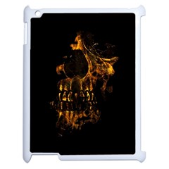 Skull Burning Digital Collage Illustration Apple Ipad 2 Case (white)