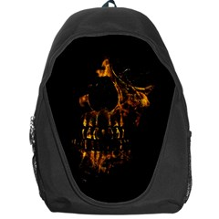 Skull Burning Digital Collage Illustration Backpack Bag