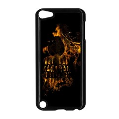 Skull Burning Digital Collage Illustration Apple iPod Touch 5 Case (Black)