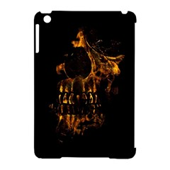 Skull Burning Digital Collage Illustration Apple iPad Mini Hardshell Case (Compatible with Smart Cover)