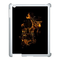 Skull Burning Digital Collage Illustration Apple Ipad 3/4 Case (white)