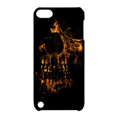 Skull Burning Digital Collage Illustration Apple Ipod Touch 5 Hardshell Case With Stand
