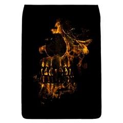 Skull Burning Digital Collage Illustration Removable Flap Cover (large)