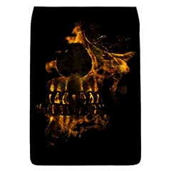 Skull Burning Digital Collage Illustration Removable Flap Cover (Small)