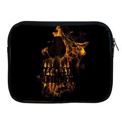 Skull Burning Digital Collage Illustration Apple Ipad Zippered Sleeve