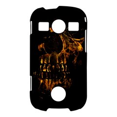 Skull Burning Digital Collage Illustration Samsung Galaxy S7710 Xcover 2 Hardshell Case