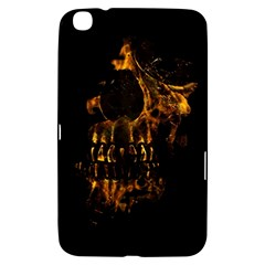 Skull Burning Digital Collage Illustration Samsung Galaxy Tab 3 (8 ) T3100 Hardshell Case
