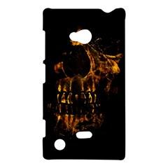 Skull Burning Digital Collage Illustration Nokia Lumia 720 Hardshell Case