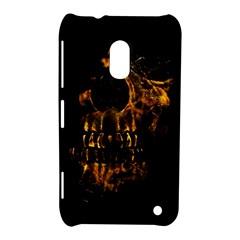 Skull Burning Digital Collage Illustration Nokia Lumia 620 Hardshell Case