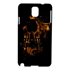 Skull Burning Digital Collage Illustration Samsung Galaxy Note 3 N9005 Hardshell Case