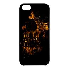 Skull Burning Digital Collage Illustration Apple iPhone 5C Hardshell Case