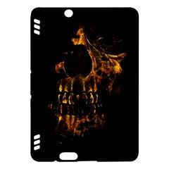 Skull Burning Digital Collage Illustration Kindle Fire HDX 7  Hardshell Case