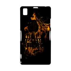 Skull Burning Digital Collage Illustration Sony Xperia Z1 L39H Hardshell Case
