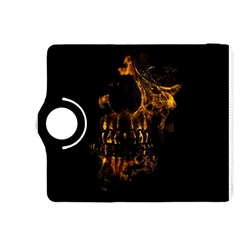 Skull Burning Digital Collage Illustration Kindle Fire HDX 8.9  Flip 360 Case