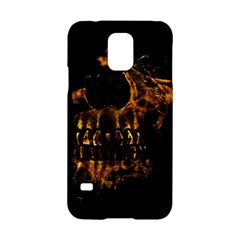 Skull Burning Digital Collage Illustration Samsung Galaxy S5 Hardshell Case
