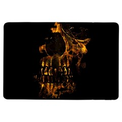 Skull Burning Digital Collage Illustration Apple iPad Air Flip Case