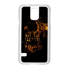 Skull Burning Digital Collage Illustration Samsung Galaxy S5 Case (White)