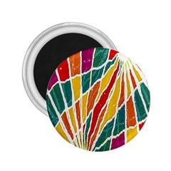Multicolored Vibrations 2 25  Button Magnet