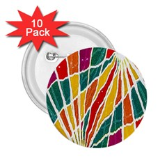 Multicolored Vibrations 2 25  Button (10 Pack)