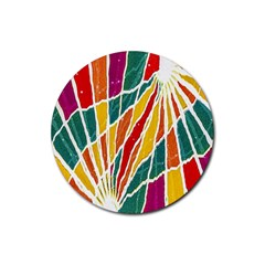 Multicolored Vibrations Drink Coasters 4 Pack (round)