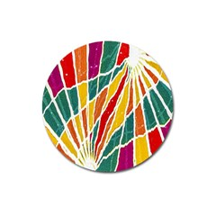 Multicolored Vibrations Magnet 3  (Round)