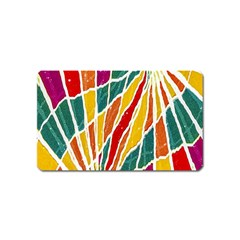 Multicolored Vibrations Magnet (Name Card)