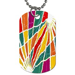 Multicolored Vibrations Dog Tag (one Sided)