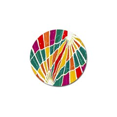 Multicolored Vibrations Golf Ball Marker 4 Pack
