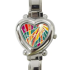 Multicolored Vibrations Heart Italian Charm Watch