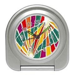 Multicolored Vibrations Desk Alarm Clock