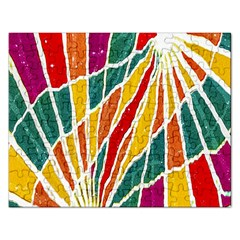 Multicolored Vibrations Jigsaw Puzzle (rectangle)
