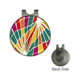 Multicolored Vibrations Hat Clip With Golf Ball Marker